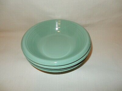"""Set of 4 Gibson Solid Seafoam Green 8 3/8"""" Soup Cereal Salad Bowls"""
