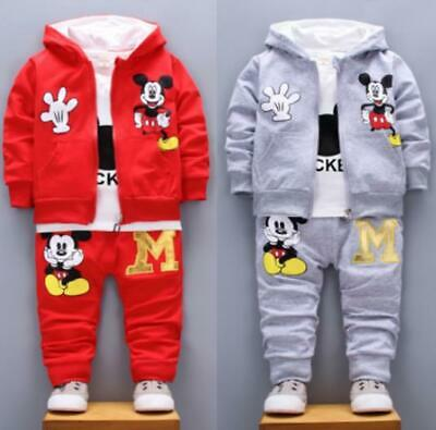 Baby Fashion Leisure Cartoon Suit Girls 1-4 Years Old Cartoon Three-piece Suit
