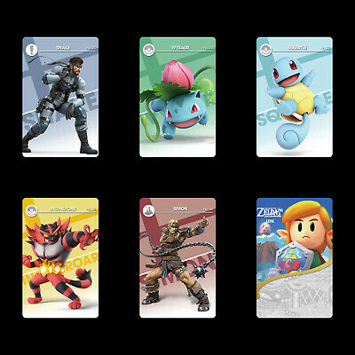 Link's Awakening & New SSB Snake/Squirtle/Ivysaur 4PCS PVC NFC Cards for Switch