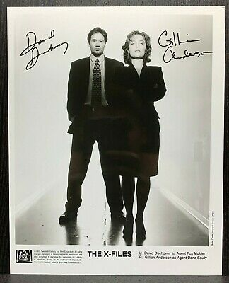 X-FILES! David Duchovny & Gillian Anderson AUTOGRAPHS 8x10 Signed Promo Photo