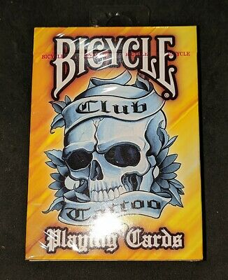 Bicycle Club Yellow Tattoo Playing Cards Created by Chester Bennington - NEW!
