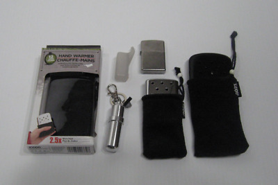 Zippo Lot Hand Warmers with Fuel Canister and Pocket Lighter