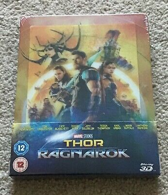 Marvel THOR RAGNAROK Blu-Ray 3-D Lenticular 3D Steelbook Zavvi Exclusive Sealed