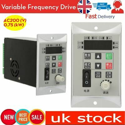 220V 0.75KW 1HP Single Phase Variable Frequency Drive Inverter Motor Drive VFD