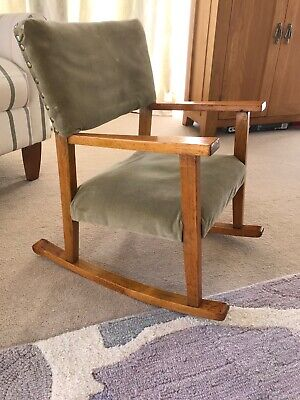 Antique Solid Wood Child's Playroom Rocking Chair
