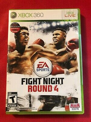 Fight Night Round 4 (Microsoft Xbox 360, 2009) (CIB) (VG)