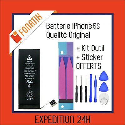 BATTERIE IPHONE 5S INTERNE NEUVE 0 CYCLE 1570 mAh + KIT OUTILS + STICKER OFFERTS
