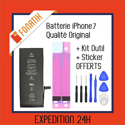 BATTERIE IPHONE 7 INTERNE NEUVE 0 CYCLE 1960 mAh + KIT OUTILS + STICKER OFFERTS!