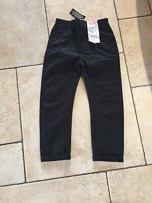 Boys Black Chino's from Dunnes Stores