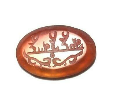 Original Ancient Peach Stamp Large Stamp Bead