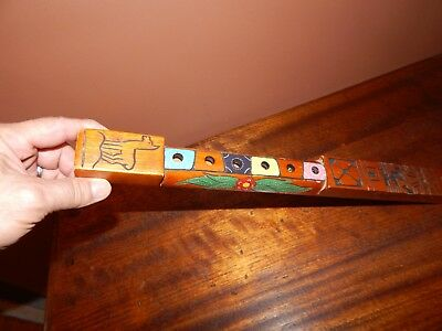 Hand Made/Carved/Painted Native American Style Flute Beautiful, Easy to Play.