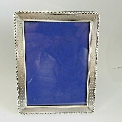 Vintage Silver Hm 1992 Photo Frame Stylish Decoration - 5 X 3.9 Inches Broadway
