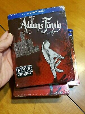 The Addams Family Steelbook Movie Blu Ray Disc FYE Exclusive BRAND NEW READ