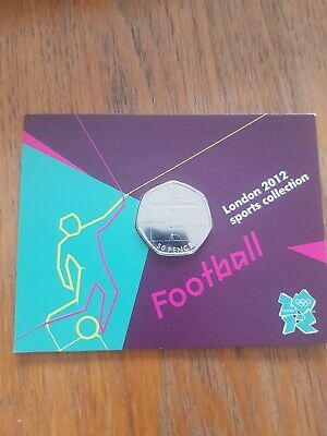 Football Offside Rule olympic 50p Uncirculated