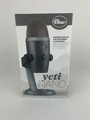 Blue Microphones Yeti Nano USB Condenser Microphone Shadow Grey Brand New Sealed
