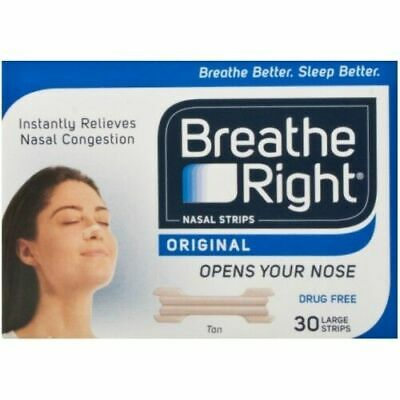 Breathe Right Tan Nasal Strips - Tan, Pack of 30 ( Free & Fast Delivery)