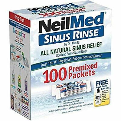NeilMed Sinus Rinse 120 Premixed Sachets For Cold and Congestion Relief