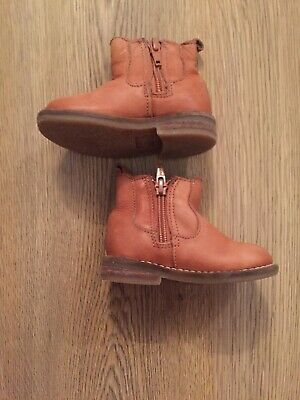Baby Infants Boys Next Brown Tan Boots Size 4 Good Condition Fast Dispatch