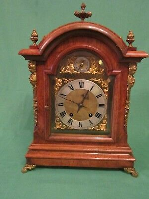 Edwardian period ting-tang quarter striking mantel clock