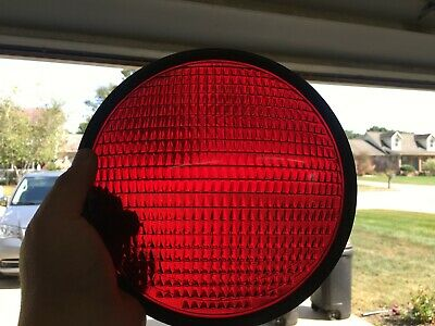 Crouse Hinds Traffic Light Red Faint Smiley Lens Corning T-2 Art Deco Bread Pan
