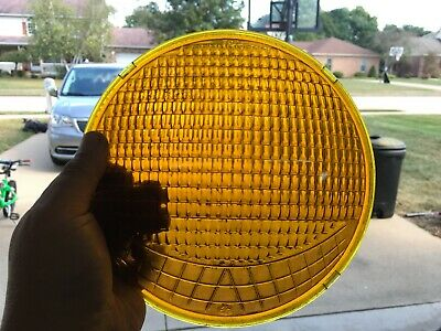 Crouse Hinds Traffic SIgnal Stop Light Lens Early Type D Smiley With Indents