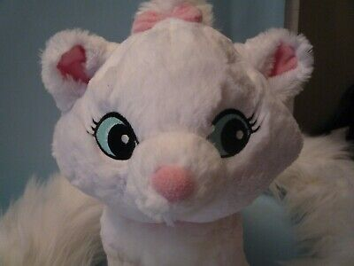 "Disney Parks Aristocats Marie White Cat Plush W 48"" Long Tail Boa Scarf Stole"