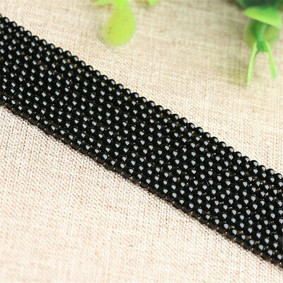 6mm Obsidian Loose Beads Making Jewelry 1PCS 15 inches Strand Gemstone