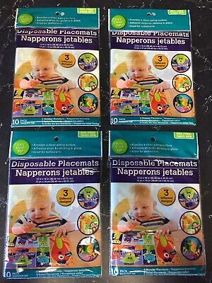 4 NEW Baby Disposable Feeding Placemats - 10 In Each Package