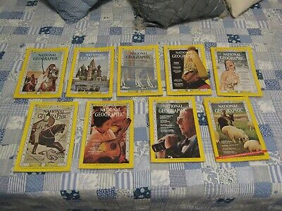 1966 National Geographic Society Magazines Lot of 9 Sherpaland Arabia Moscow Etc