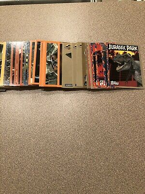 1993 Jurassic Park Series 1  72 Card Set/11 Stickers and Wrapper Set Is In Mint