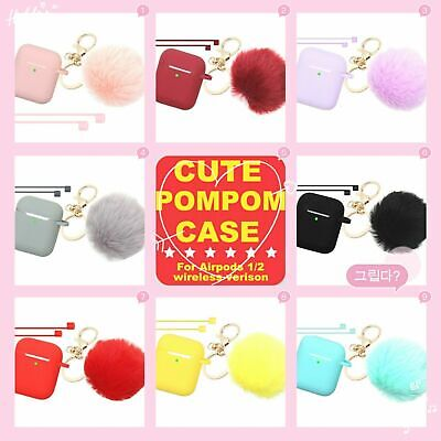 Cute AirPods Silicone Case Cover Shockproof Protective Skin for Airpod Charging
