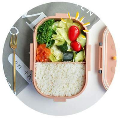Portable Bento Box Leakproof Two Grids Divided Food Storage Container Lunch Box