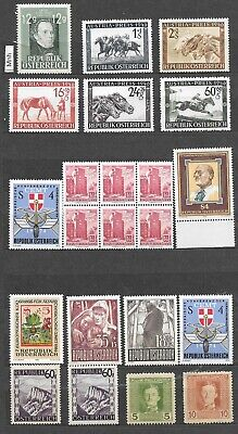 Austria stamps mint not hinged, hinged, used, 6 scans