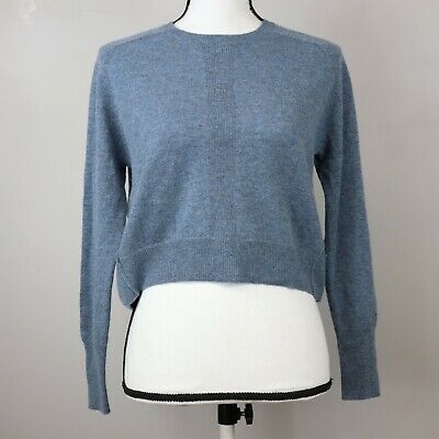 $275 NWT VINCE SzS BOXY CASHMERE LONG SLEEVE CREW-NECK PULLOVER SWEATER SAGE