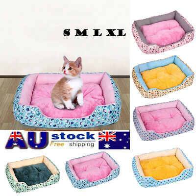 Soft Extra Large Dog Bed Pet Cat Cushion Mattress Pad Mats S M L XL AU