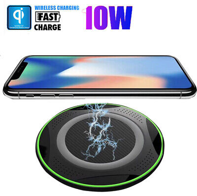 Qi Wireless Veloce Caricabatterie Pad Dock Per iPhone 11Pro Max X Samsung S10 S9