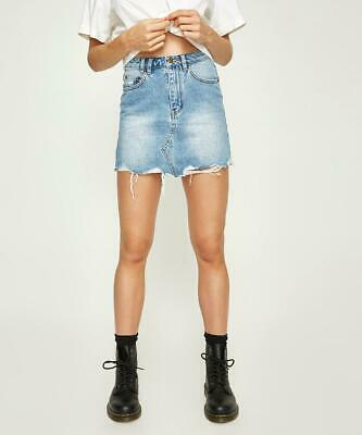 Insight Clothing Sasha A-Line Denim Skirt Pilot Blue