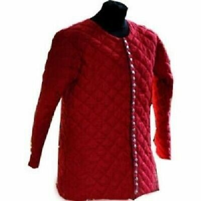 Beautiful Medieval Thick Padded Red Gambeson Play Movies Theater Custome Sca