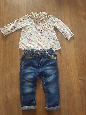 Next Baby Girls 12-18 Months Outfit Vgc