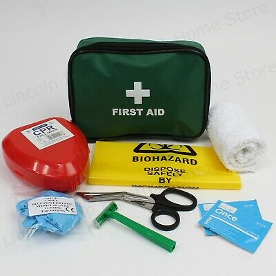 Medical AED (Defib) Prep Kit. Wash Cloth, CPR Mask, Razor, Wipes & Yellow Bag.