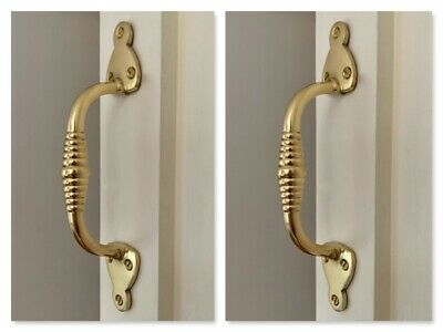 Brass Beehive Pull Handles (Pairs) Door Or Drawer Cupboard Victorian Knobs Grab