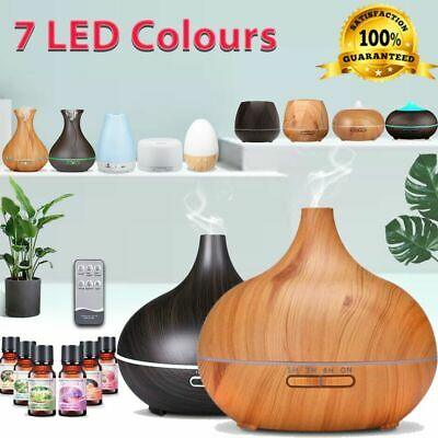 Diffuser Aroma Aromatherapy LED Essential Oil Ultrasonic Air Humidifier Purifier