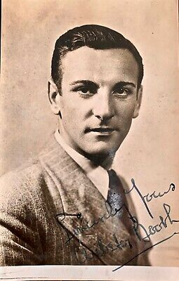 Webster Booth  : Autographed Photo . D'oyly Carte Opera Singer