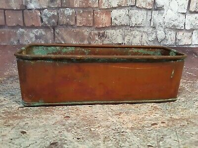 Antique Vintage Solid Copper Trough Window Box Herb Planter