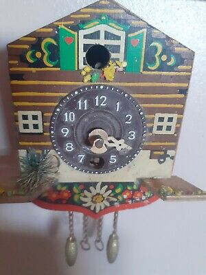 "Vintage small Cuckoo Clock spare or repair approx 5"" long."