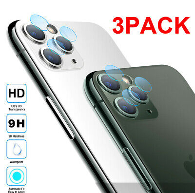 3Pack 9H Tempered Glass Camera Lens Screen Film Protector for iPhone 11Pro Max X