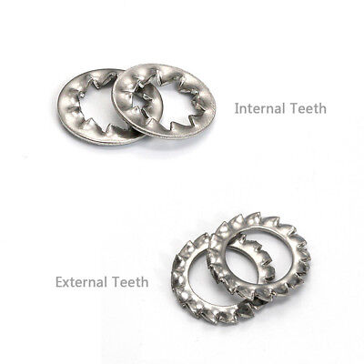 Serrated Lock Washer External & Internal Toothed M3,4,5,6,8,10,12,14,16mm