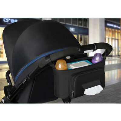 Practical Stroller Organizer Bags Hooks Oxford Cloth Stroller Bag Large Capacity