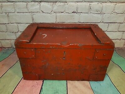 Vintage WW2 Wooden Military Ammunition Box Case Engineers Tool Trunk Chest