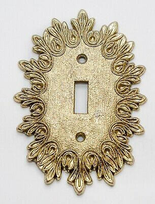 Vintage Ornate Filigree Switch Plate Cover Brass Plated